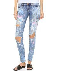 Rialto Jean Project - Rjp X Blank Denim Distressed Skinny Jeans - Lyst