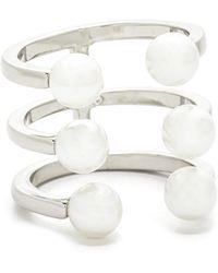 Rebecca Minkoff - Imitation Pearl Wrap Ring - Lyst