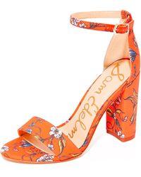 Sam Edelman - Yaro Printed Sandals - Lyst
