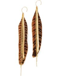 Serefina - Large Feather Earrings - Lyst
