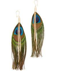 Serefina - Peacock Earrings - Lyst