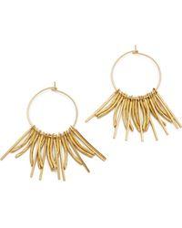 Serefina - Short Fringe Hoop Earrings - Lyst