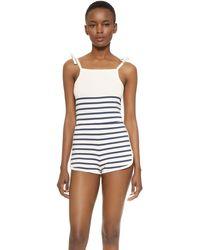 Solid & Striped - Knit Romper - Lyst