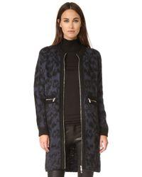Sonia by Sonia Rykiel - Mohair Leopard Jacquard Coat - Lyst