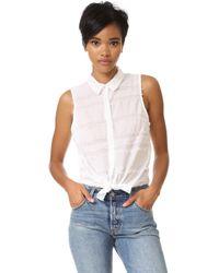Splendid - Fringe Cotton Shirt - Lyst