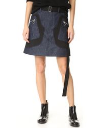 Tim Coppens - Patch Skirt - Lyst