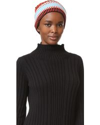 Tory Burch - Nova Stripe Hat - Lyst