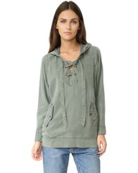 Young Fabulous & Broke | Lace Up Hoodie | Lyst