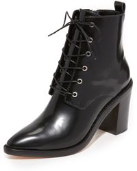 Zimmermann - Lace Up Dress Booties - Lyst