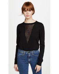 Line & Dot - Mia Contrast Sweater - Lyst