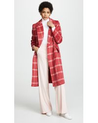 C/meo Collective - Magnets Double Breasted Checkered Coat, - Lyst
