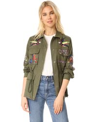 Tanya Taylor - Embroidered Twill Alina Jacket - Lyst