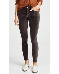 FRAME - Le Velveteen High Skinny Jeans - Lyst