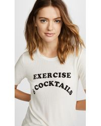 Wildfox - Exercise & Cocktails Seer Tee - Lyst