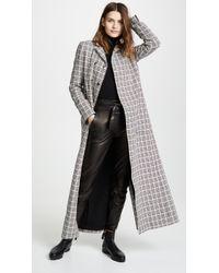 Giambattista Valli - Plaid Long Wool Coat - Lyst