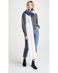 Kate Spade - Brushed Colorblock Blanket Scarf - Lyst