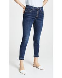 Veronica Beard - Debbie Jeans With Fraying - Lyst