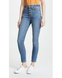 AO.LA by alice + olivia - High Rise Button Fly Jeans - Lyst