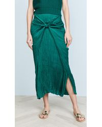 Vince - Pleated Tie Front Skirt - Lyst