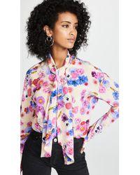 Natasha Zinko - Floral Scarf Tie Blouse - Lyst