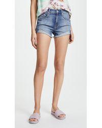 Mother - Rascal Slit Flip Shorts - Lyst