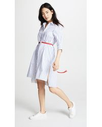 Edition10 - Striped Dress With Belt - Lyst