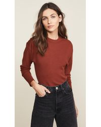 Jason Wu - Three Button Long Sleeve Knit Top - Lyst