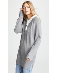 T By Alexander Wang - Sweater Tunic With Inner Hoodie - Lyst