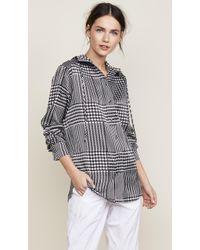 Victoria, Victoria Beckham - Hooded Shirt - Lyst
