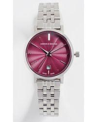 Larsson & Jennings - Aurora Polished Guilloche Watch, 26mm - Lyst