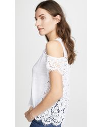 Generation Love | London Lace Cold Shoulder Tee | Lyst