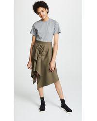 3.1 Phillip Lim - Mixed Media Wool & Cotton T-shirt Dress - Lyst