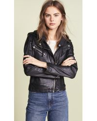 Doma Leather - Hoodie Leather Jacket - Lyst