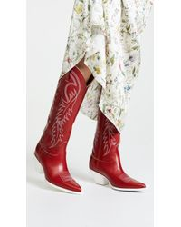 R13   Mid Straight Cowboy Boots   Lyst