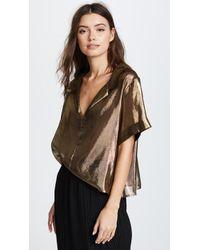 Viva Aviva - Gold Bowling Shirt - Lyst