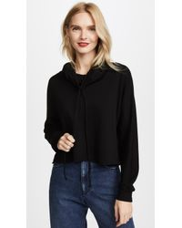 Lanston | Funnel Neck Crop Pullover | Lyst