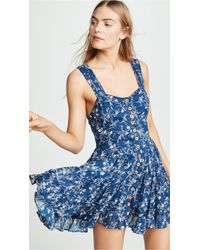 79c6169843fce Lyst - Free People Magic Dance Border Print Kimono in Blue