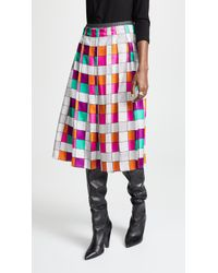 La Prestic Ouiston - Gina Grid Skirt - Lyst