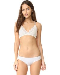 Only Hearts - So Fine Triangle Racer Back Bralette - Lyst