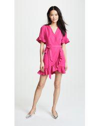 Line & Dot - Cherie Wrap Dress - Lyst