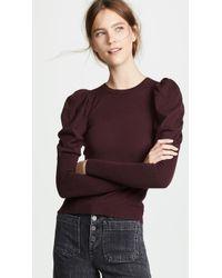 Autumn Cashmere - Juliet Sleeve Cashmere Crew Sweater - Lyst