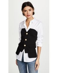 Laveer - Button Up Bustier - Lyst
