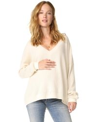 HATCH - Easy V Neck Sweater - Lyst
