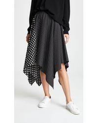 Paskal - Elastic Waistband Flared Skirt - Lyst