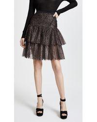 Rodarte - Sparkle Two Tier Ruffle Skirt - Lyst