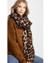 Hat Attack - Leopard Scarf - Lyst