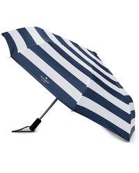 Kate Spade - Jubilee Stripe Travel Umbrella - Lyst