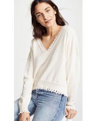 Nation Ltd - Jolie Boxy Ultra Deep V Sweater - Lyst