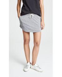 Monrow - Granite Slub Baseball Skirt - Lyst