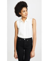 Theory - Tanelis Silk Sleeveless Blouse - Lyst